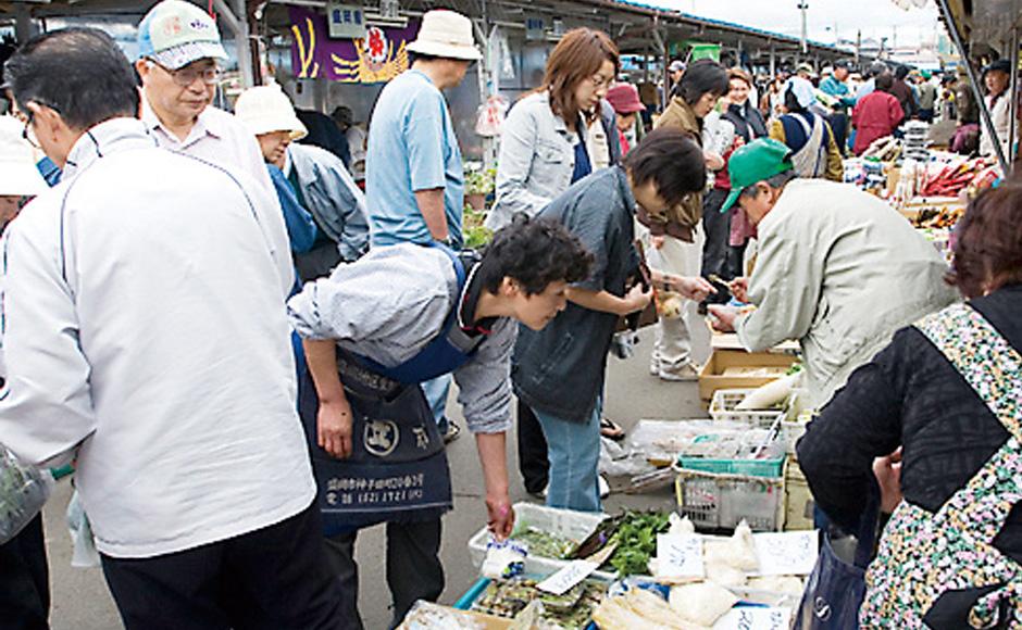 모리오카 미코다 아침 시장